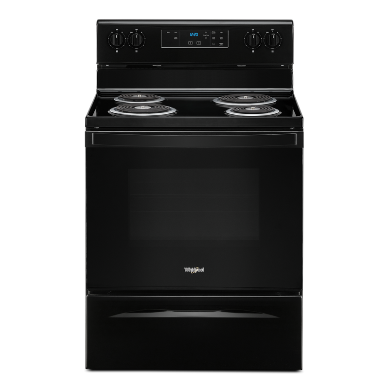 4.8 cu. ft. Whirlpool® electric range with Keep Warm setting YWFC150M0JB