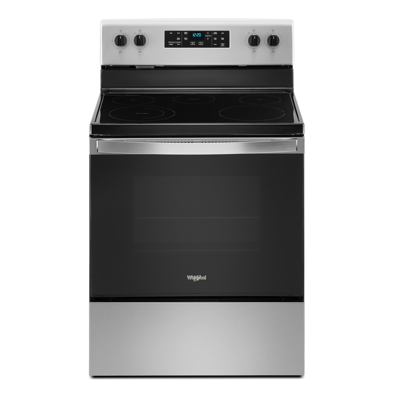 5.3 cu. ft. Whirlpool® electric range with Frozen Bake™ technology YWFE505W0JZ