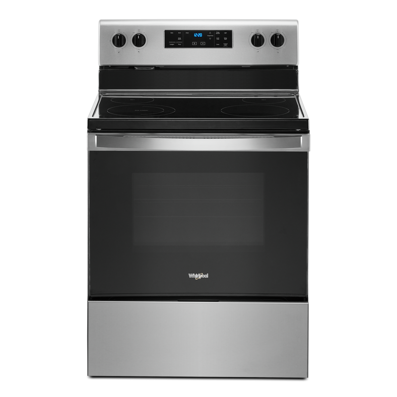 5.3 cu. ft. Whirlpool® electric range with Frozen Bake™ technology YWFE515S0JW