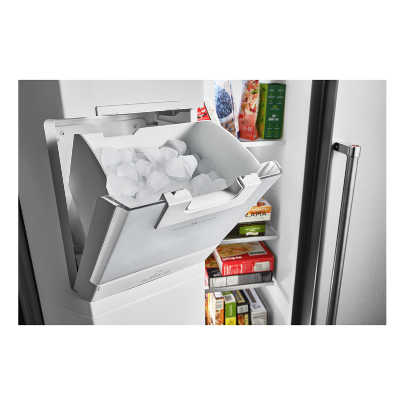 19.9 cu ft. Counter-Depth Side-by-Side Refrigerator with Exterior Ice and Water and PrintShield™ finish KRSC700HPS