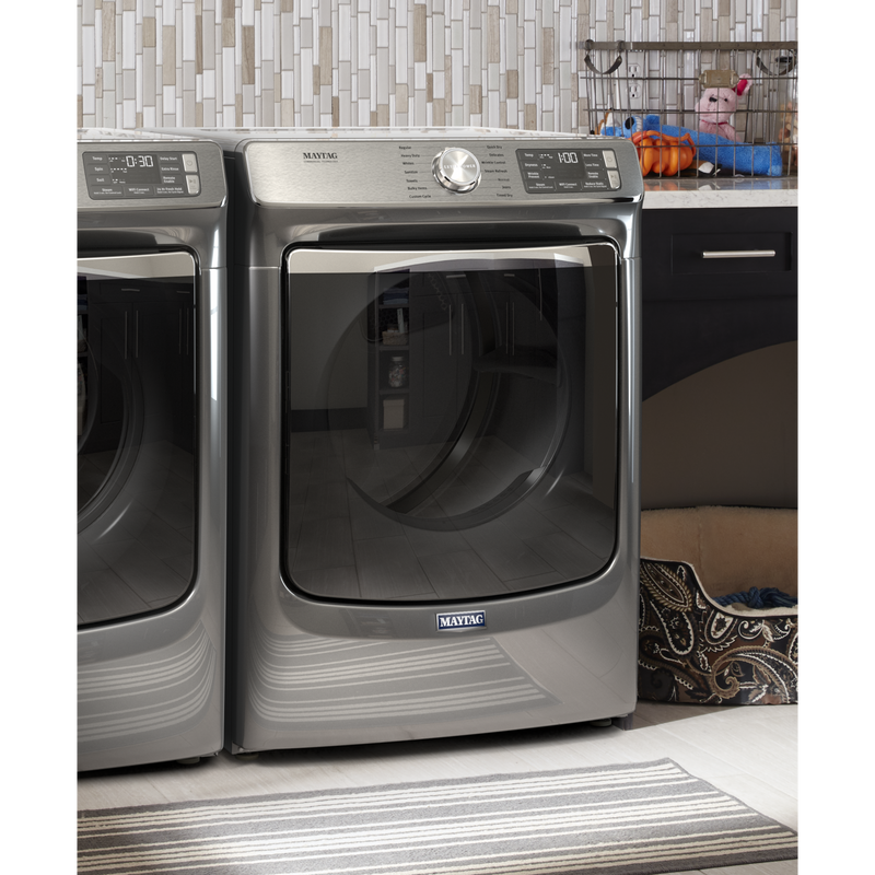 Smart Front Load Electric Dryer with Extra Power and Advanced Moisture Sensing with industry-exclusive extra moisture sensor - 7.3 cu. ft. YMED8630HC
