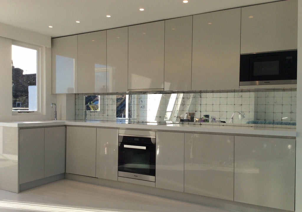 Reverse Gilded Glass Splashbacks