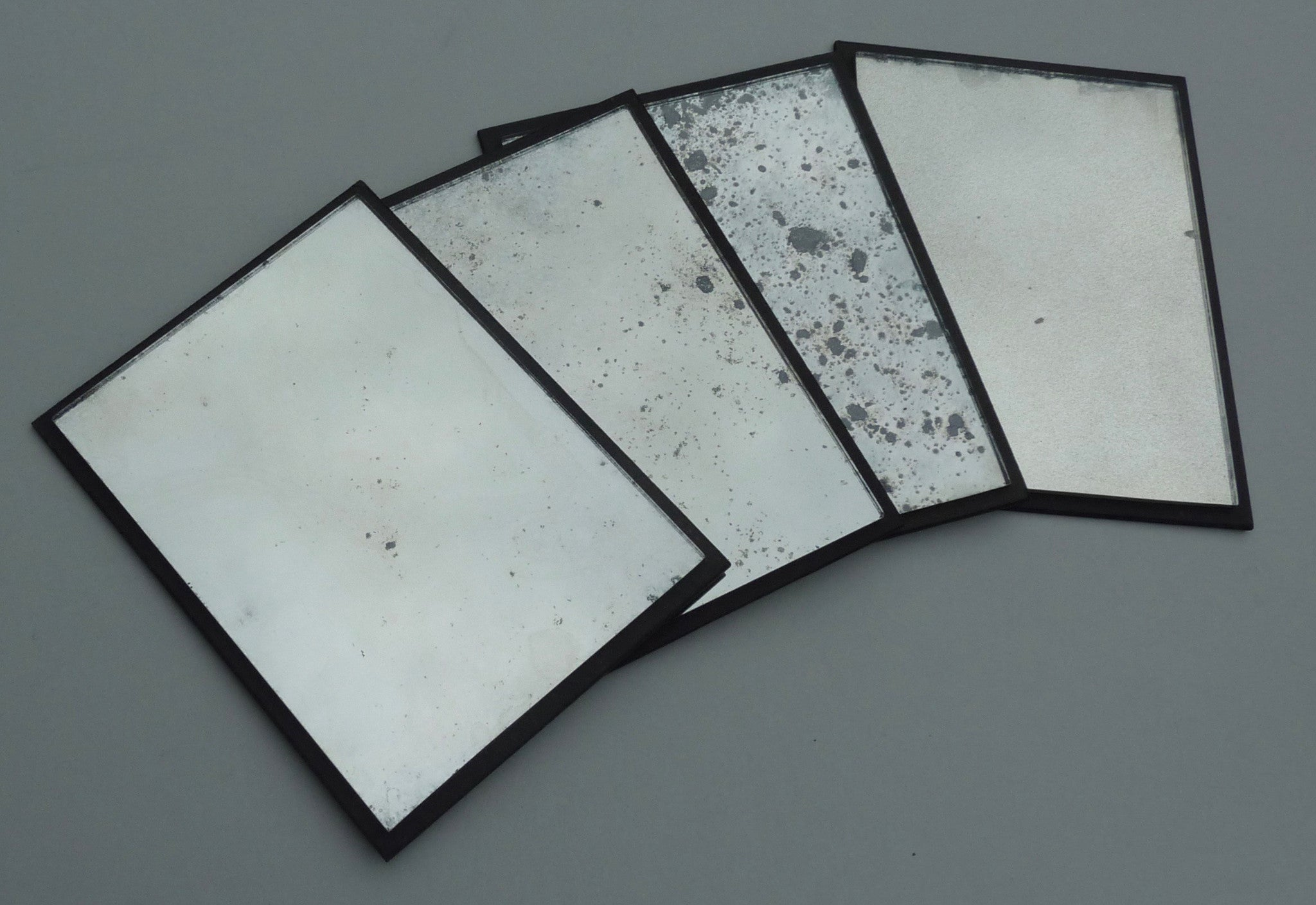 Antiqued Mirror & Verre Eglomise Samples