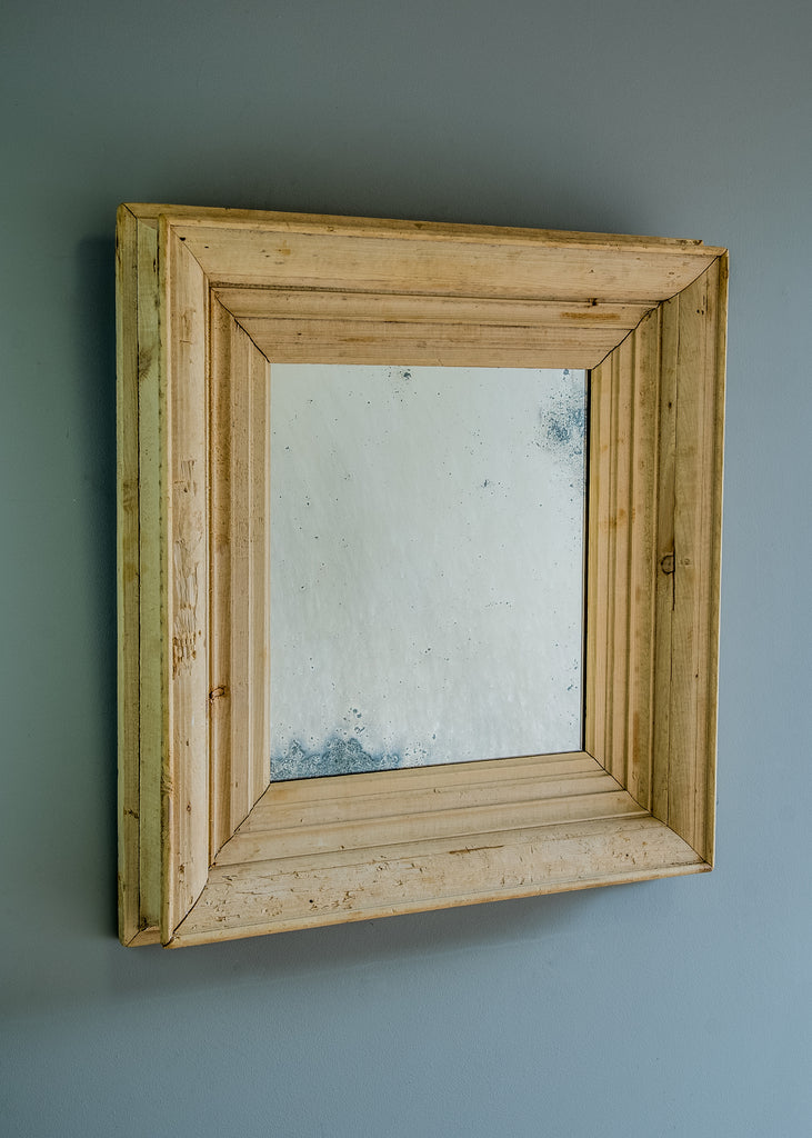 19th Century Stripped Pine Mirror