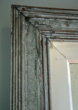 Closeup of Silver Gilt & Painted Antique Mirror | Rough Old Glass