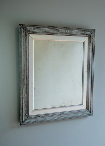Silver Gilt & Painted Antique Mirror | Rough Old Glass
