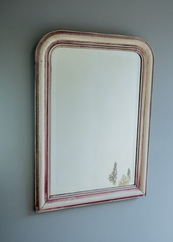 French Louis Phillipe Mirror with Original Distressed Plate