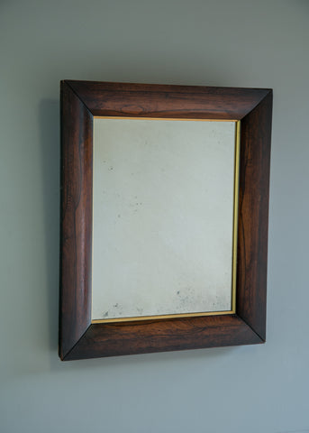 Rosewood & Gilt Antique Mirror | Rough Old Glass