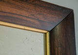 Closeup of Rosewood & Gilt Antique Mirror | Rough Old Glass