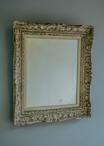 French Carved Wood Antique Mirror | Rough Old Glass