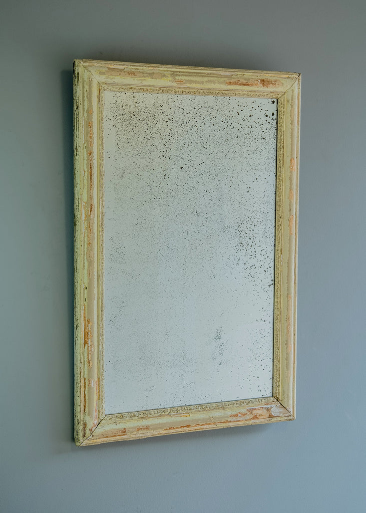 Late 19th Century French Distressed Gilt Mirror