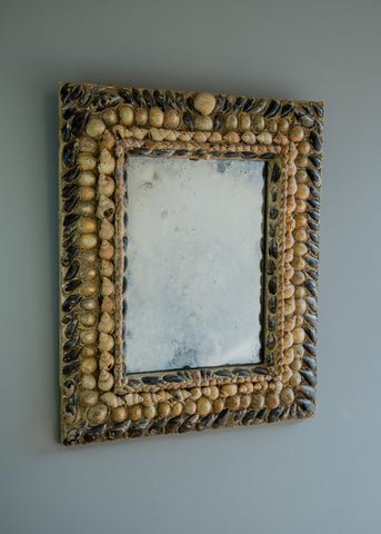 Folk Art Grotto Mirror | Rough Old Glass