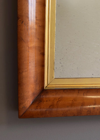 Pair of English Birds Eye Maple Mirrors