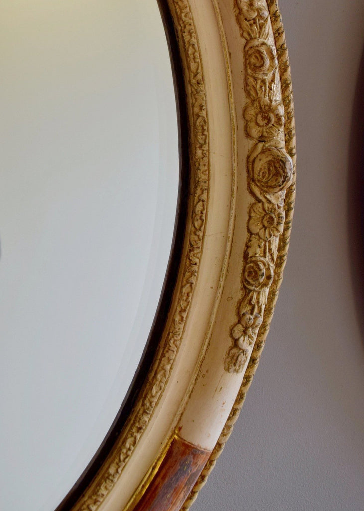 Pair of French Oval Mirrors