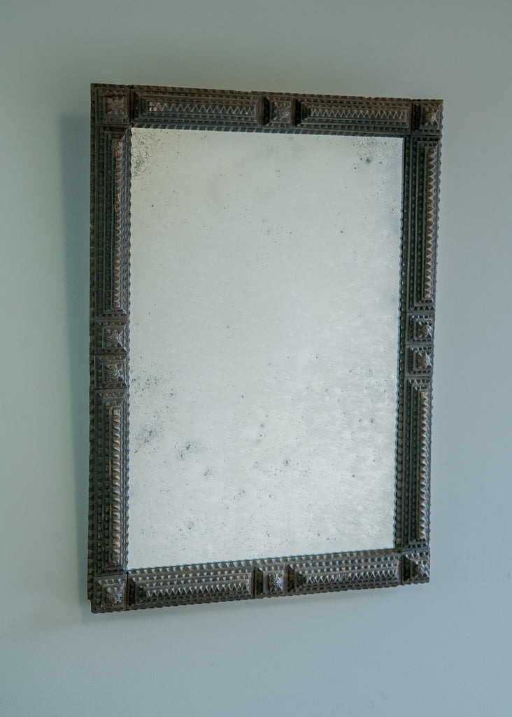 Tramp Art Mirror | Rough Old Glass