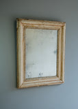 French Distressed Gilt & Gesso Mirror