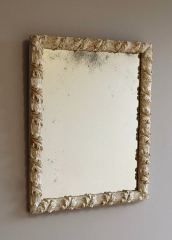 English Mirror With Distressed Surface