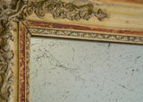 Late 19th Century French Mirror with Original Gilt & Gesso Surface
