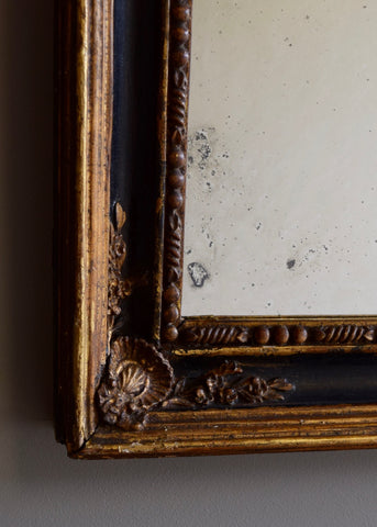 Pair of Gilt & Ebonised Mirrors