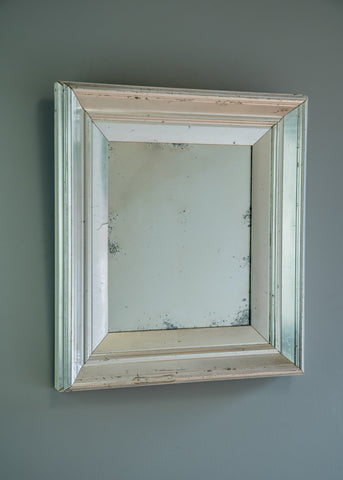 English Silver Gilt Mirror | Rough Old Glass