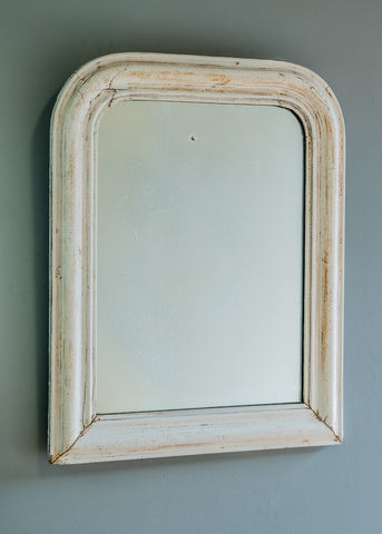 French Mirror with Gesso Surface