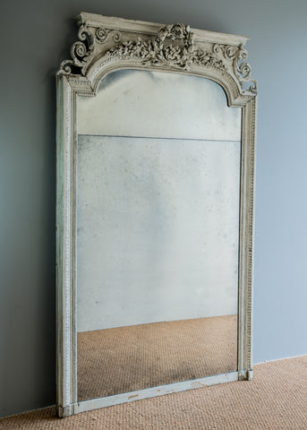 French Painted Pier Mirror | Rough Old Glass
