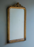 French Crested Antique Mirror | Rough Old Glass