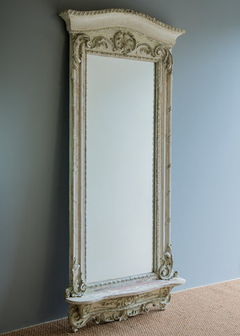 Large French Pier Mirror | Rough Old Glass