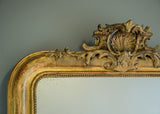 Engraved Gold French Crested Mirror