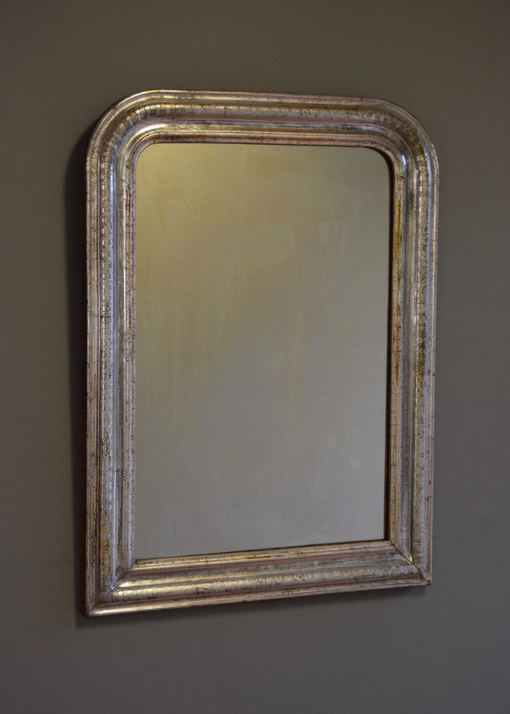 French Louis Phillipe Silver Gilt Mirror