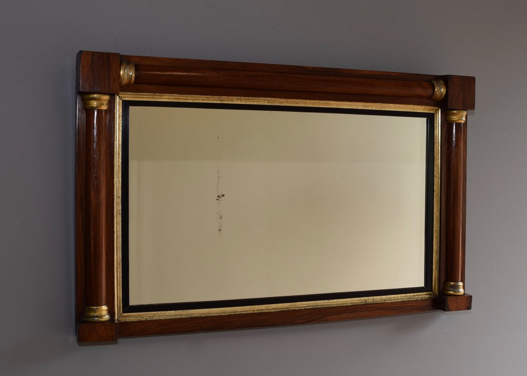 English rosewood gilt overmantle mirror for What is a gilt mirror