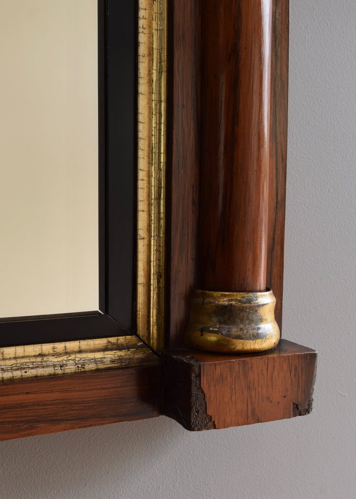 English Rosewood & Gilt Overmantle Mirror