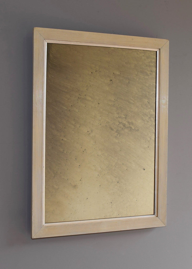Reeded Gesso & Silver Gilt Mirror