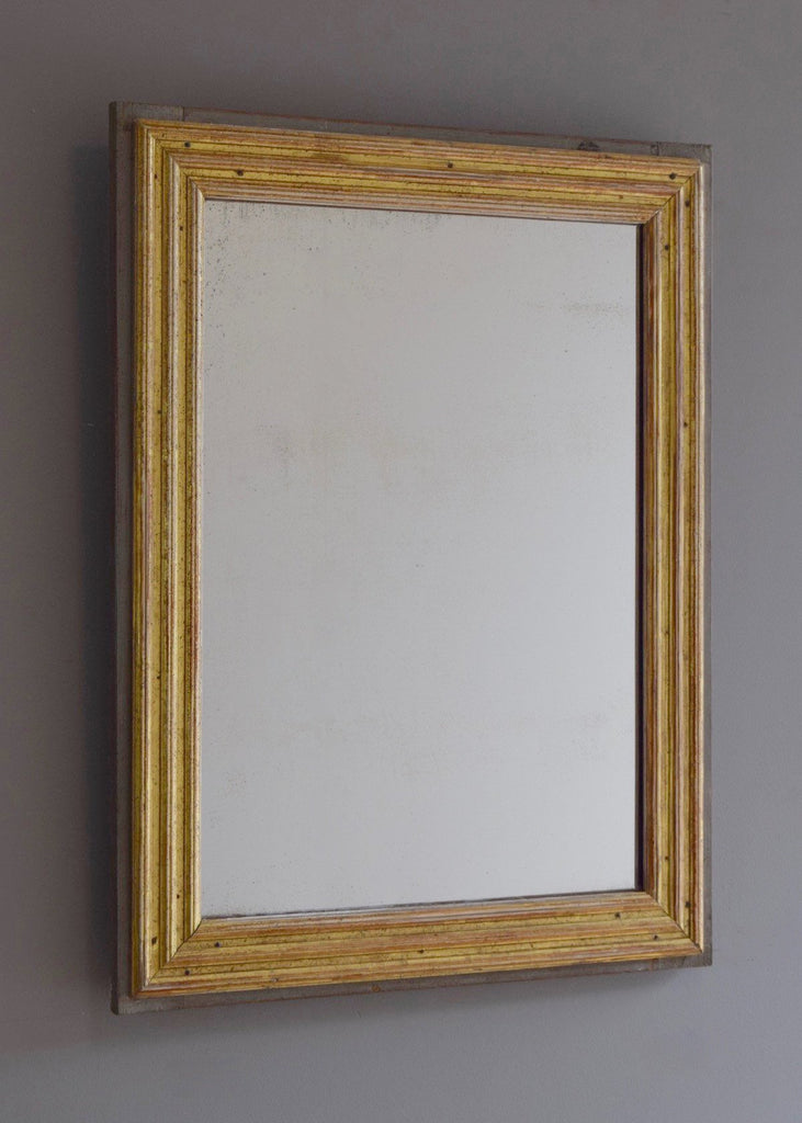 French Gilt & Painted Mirror