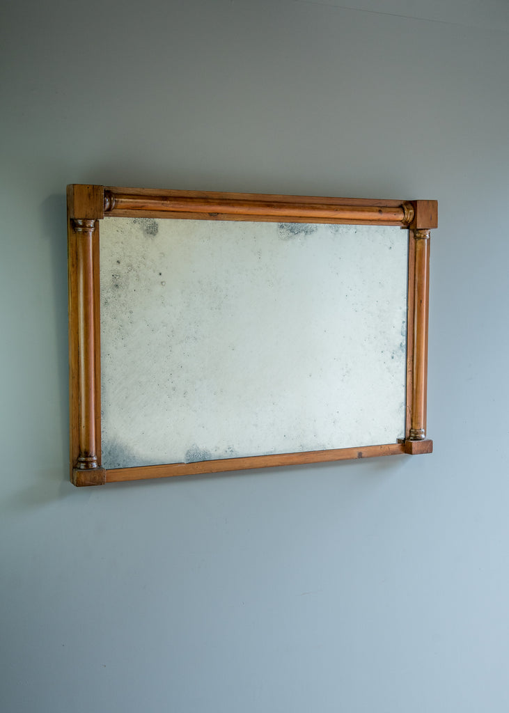 English Pine Overmantel Mirror | Rough Old Glass