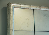 Close up of Silver Gilt Bistro Mirror | Rough Old Glass Bespoke