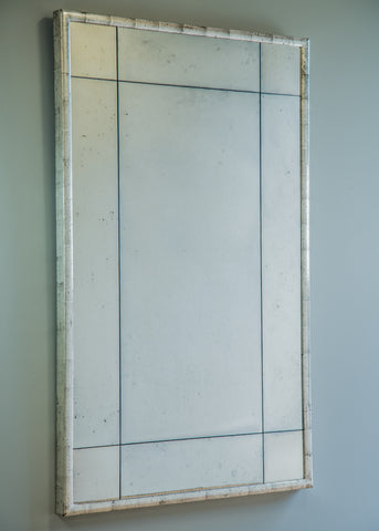 Silver Gilt Bistro Mirror | Rough Old Glass Bespoke