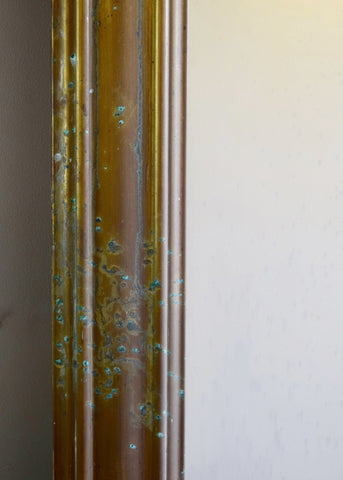 Large French Brass Bistro Mirror
