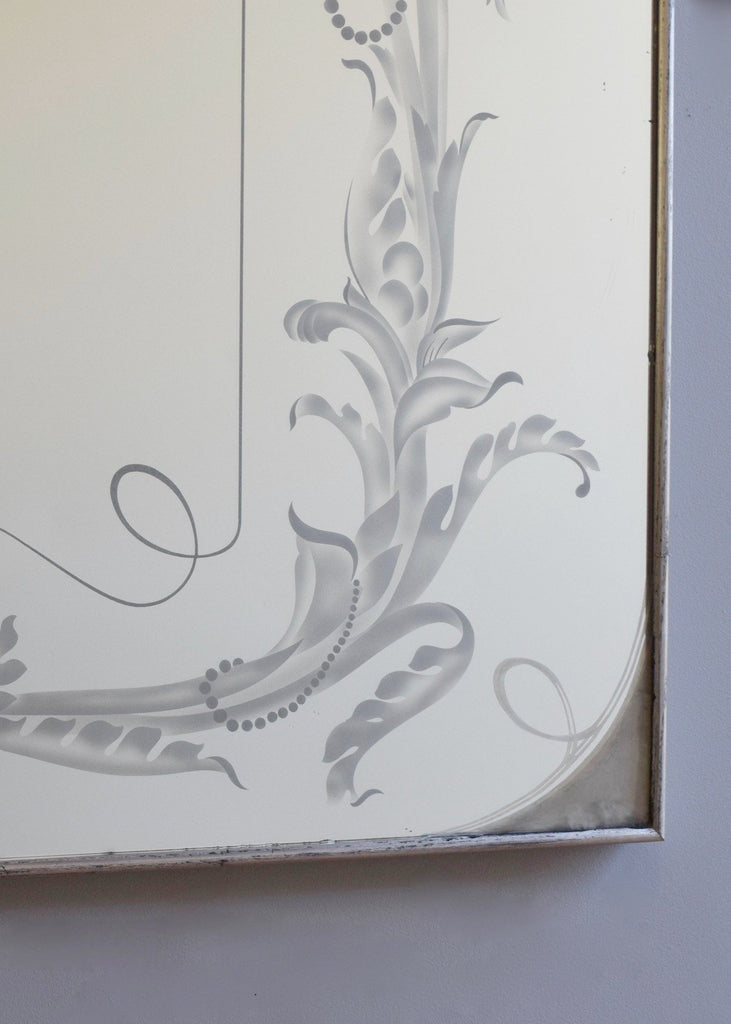 Large French Etched Bistro Mirror