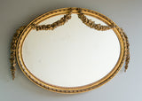 English Gilt Oval Mirror