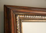 Rosewood & Silver Gilt Overmantel - SOLD