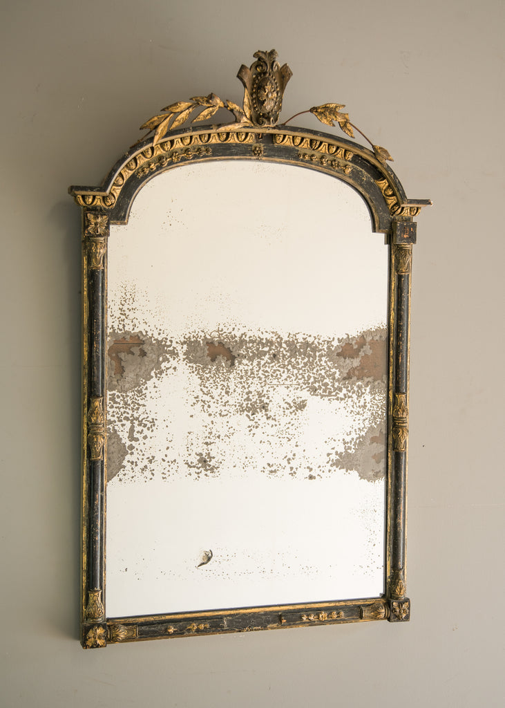 French Empire Mirror Rough Old Glass