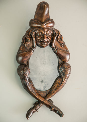 Carved Folk Art Mirror