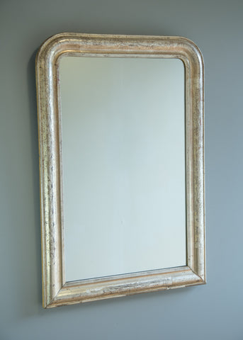 Late 19th Century French Silver Gilt Mirror