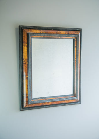 Ebonised & Faux Tortoiseshell Mirror