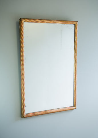 Carved Rope French Mirror | Rough Old Glass