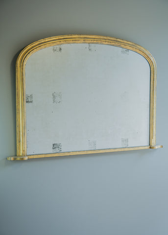 English Gilt Overmantel