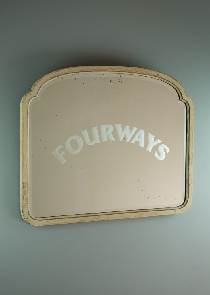 Painted Mirror with Etched Logo