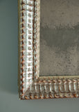 French Silver Gilt Ripple Mirror