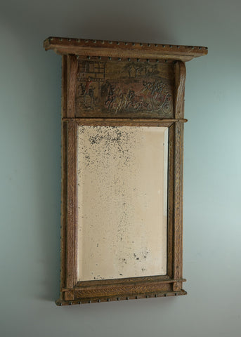 English Leather Covered Mirror - SOLD